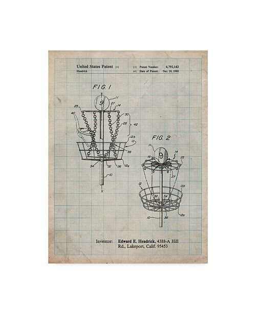 "Trademark Innovations Cole Borders 'Disk Golf Basket' Canvas Art - 32"" x 24"" x 2"""