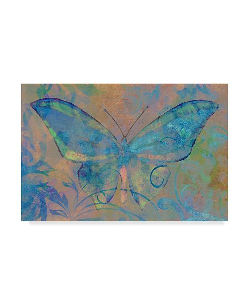 """Trademark Global Cora Niele 'Turquoise Butterfly' Canvas Art - 47"""" x 30"""" x 2"""""""