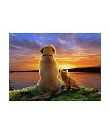 "Howard Robinson 'Watching The Sunset' Canvas Art - 32"" x 24"" x 2"""