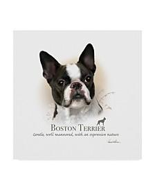 "Howard Robinson 'Boston Terrier' Canvas Art - 14"" x 14"" x 2"""