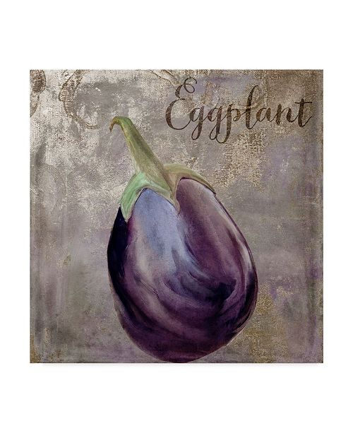 "Trademark Global Color Bakery 'Medley Gold Eggplant' Canvas Art - 14"" x 14"" x 2"""