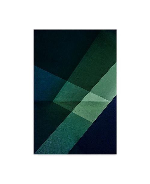 "Trademark Global Inge Schuster 'Green And Blue' Canvas Art - 22"" x 2"" x 32"""