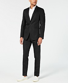 Men's Skinny-Fit Contrast Piped Suit Separates