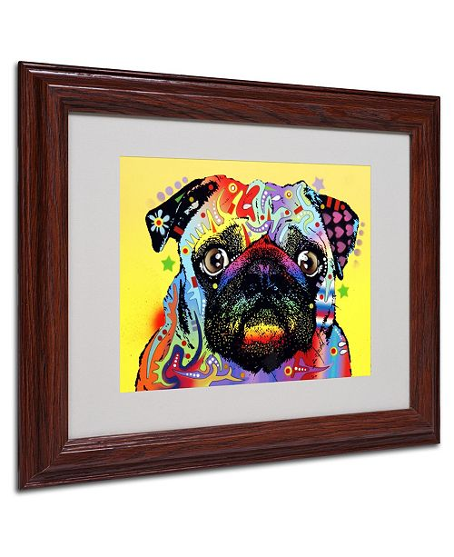 "Trademark Global Dean Russo 'Pug' Matted Framed Art - 11"" x 14"" x 0.5"""