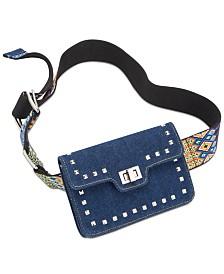 Steve Madden Embroidered Guitar Strap Belt Bag