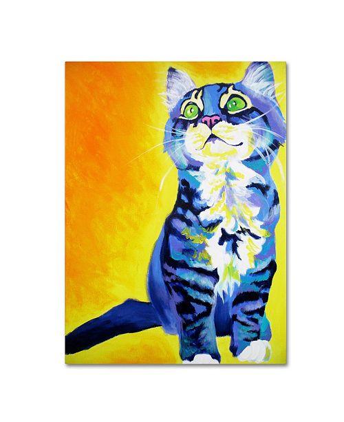 "Trademark Global DawgArt 'Here Kitty Kitty' Canvas Art - 19"" x 14"" x 2"""