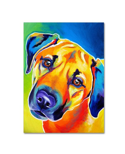 "Trademark Global DawgArt 'Lulu' Canvas Art - 35"" x 47"" x 2"""