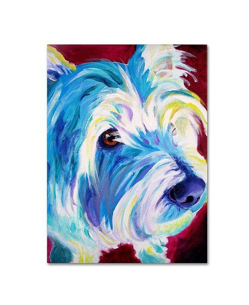 "Trademark Global DawgArt 'Westie' Canvas Art - 35"" x 47"" x 2"""