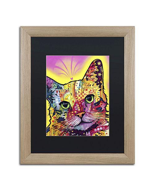 """Trademark Global Dean Russo 'Tilt Cat' Matted Framed Art - 20"""" x 16"""" x 0.5"""""""