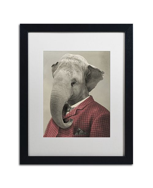 "Trademark Global J Hovenstine Studios 'Wild Animals #1' Matted Framed Art - 16"" x 20"" x 0.5"""