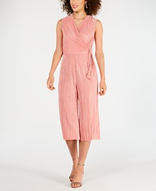 Connected Bodre Sleeveless Surplice Jumpsuit