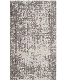 "Classic Vintage Slate and Beige 2'3"" x 8' Runner Area Rug"