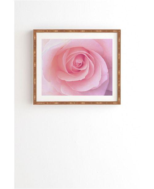 Deny Designs Blush Pink Rose Framed Wall Art