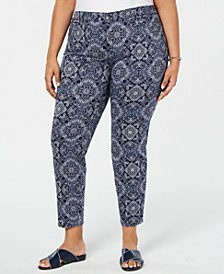 Plus Size Printed Ankle Jeans, Created for Macy's