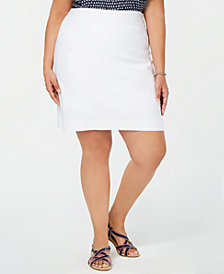 Charter Club Plus Size Pull-On Skort, Created for Macy's