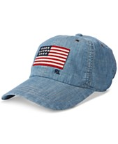 6c7502960 Polo Ralph Lauren Men s Flag Chambray Baseball Cap