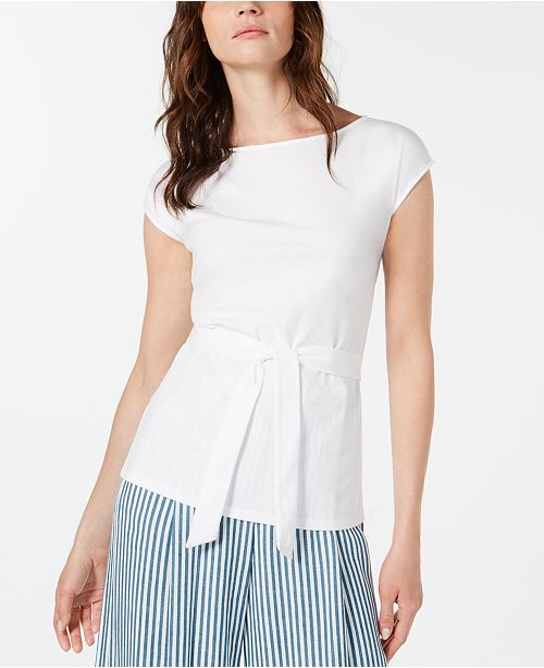 Marella Casa Cotton Tie-Waist Top