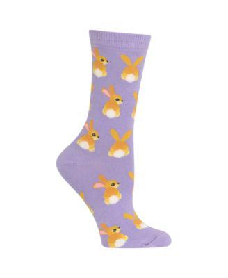 White Purple Orange Grey Pitter Pattern Men-Women Adult Ankle Socks