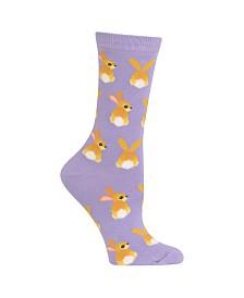 f9ae266ee Hot Sox Bunny Tails-Print Crew Socks