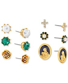 Gold-Tone 6-Pc. Set Stud Earrings