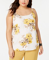 ee18bd86132 Bar III Plus Size Floral Camisole