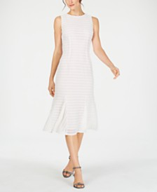 Adrianna Papell Knit-Stripe Trumpet Dress