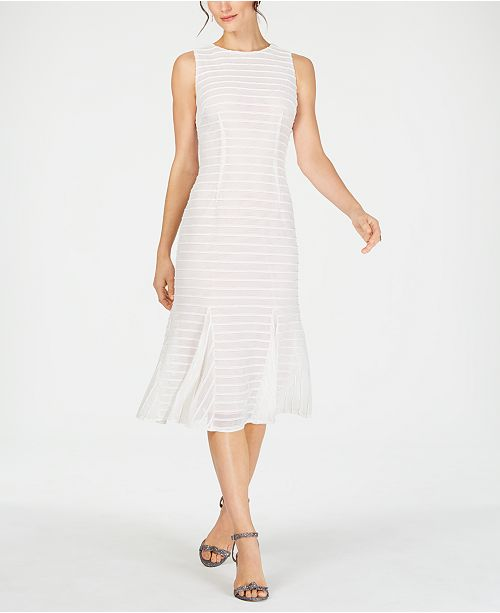 Adrianna Papell Knit-Stripe Trumpet Dress