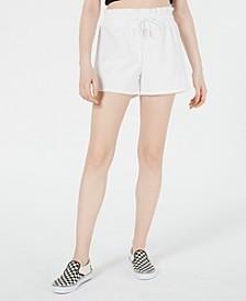Paperbag-Waist Track Shorts