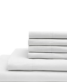 King Microfiber Solid Sheet Set with Bonus Pillowcases
