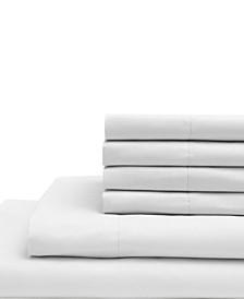 King Microfiber Solid Sheet Set with Bonus Pillowcases