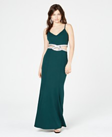 Speechless Juniors' Infinity-Waist Gown