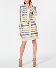 Elie Tahari Ceanna Textured Jacket & Julietta Textured Skirt
