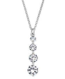 "INC Crystal Drop Pendant Necklace, 17"" + 3"" extender, Created for Macy's"