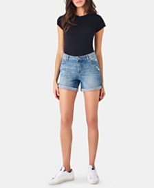 DL 1961 Karlie Cuffed Denim Shorts