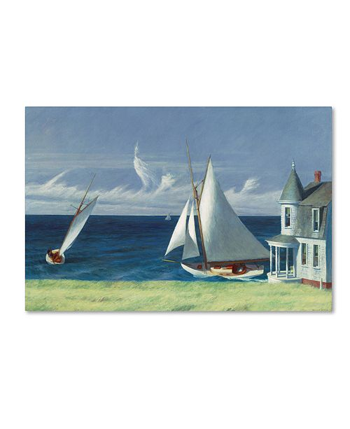 "Trademark Global Edward Hopper 'The Lee Shore' Canvas Art - 47"" x 30"" x 2"""
