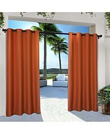 Indoor Outdoor Solid Cabana Grommet Top Curtain Panel Pair