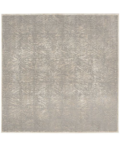 """Safavieh Meadow Ivory and Gray 6'7"""" x 6'7"""" Square Area Rug"""