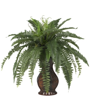 Nearly Natural Boston Fern w/ Urn Silk Plant