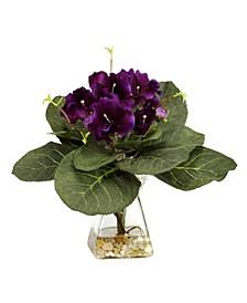 Gloxinia w/ Vase Silk Plant