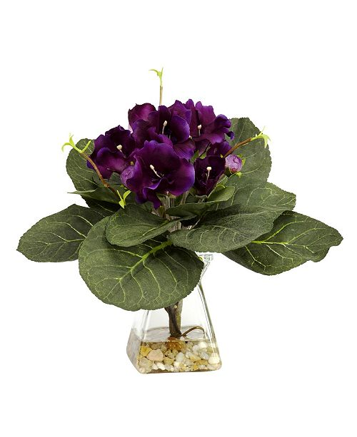Nearly Natural Gloxinia w/ Vase Silk Plant