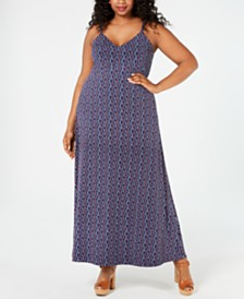 MICHAEL Michael Kors Plus Size Wave Mosaic Maxi Dress