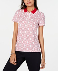 Tommy Hilfiger Printed Short-Sleeve Polo, Created for Macy's