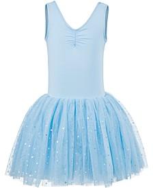 Little & Big Girls Cross-Bar Tank Leotard Dress