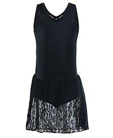 Little & Big Girls Sequin-Lace Tank Leotard Dress