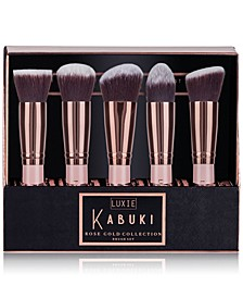 5-Pc. Rose Gold Kabuki Brush Set