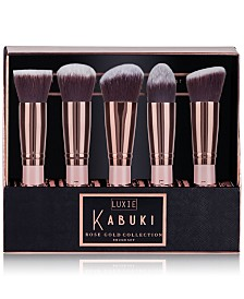 LUXIE 5-Pc. Rose Gold Kabuki Brush Set