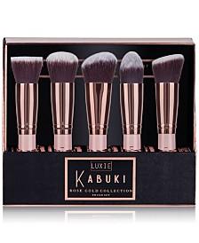 LUXIE 5-Pc. Rose Gold Kabuki Brush Set