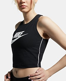 Nike Sportswear Cotton Logo Cropped Tank Top