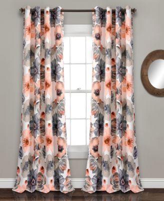 """Leah Floral 52"""" x 95"""" Curtain Set"""