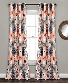 "Leah Floral 52"" x 95"" Curtain Set"